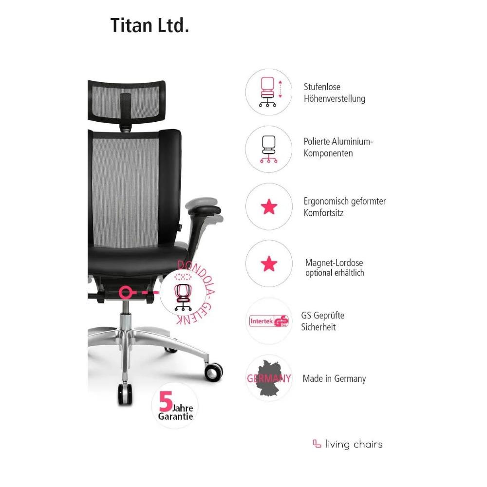 Premium Bürostuhl Wagner Titan Limited schwarz
