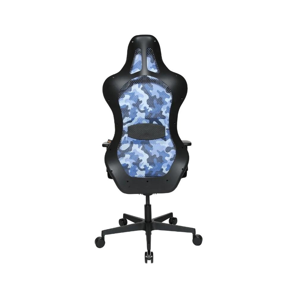 Gaming Stuhl Topstar Sitness RS Sport camouflage blau mit Lordosenkissen
