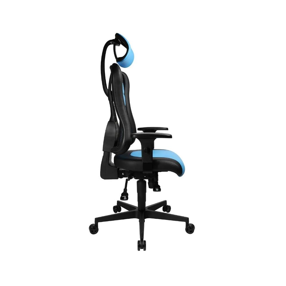 Gaming Stuhl Topstar Sitness RS hellblau mit höhenverstellbarer Armlehne/ mit Kopfstütze