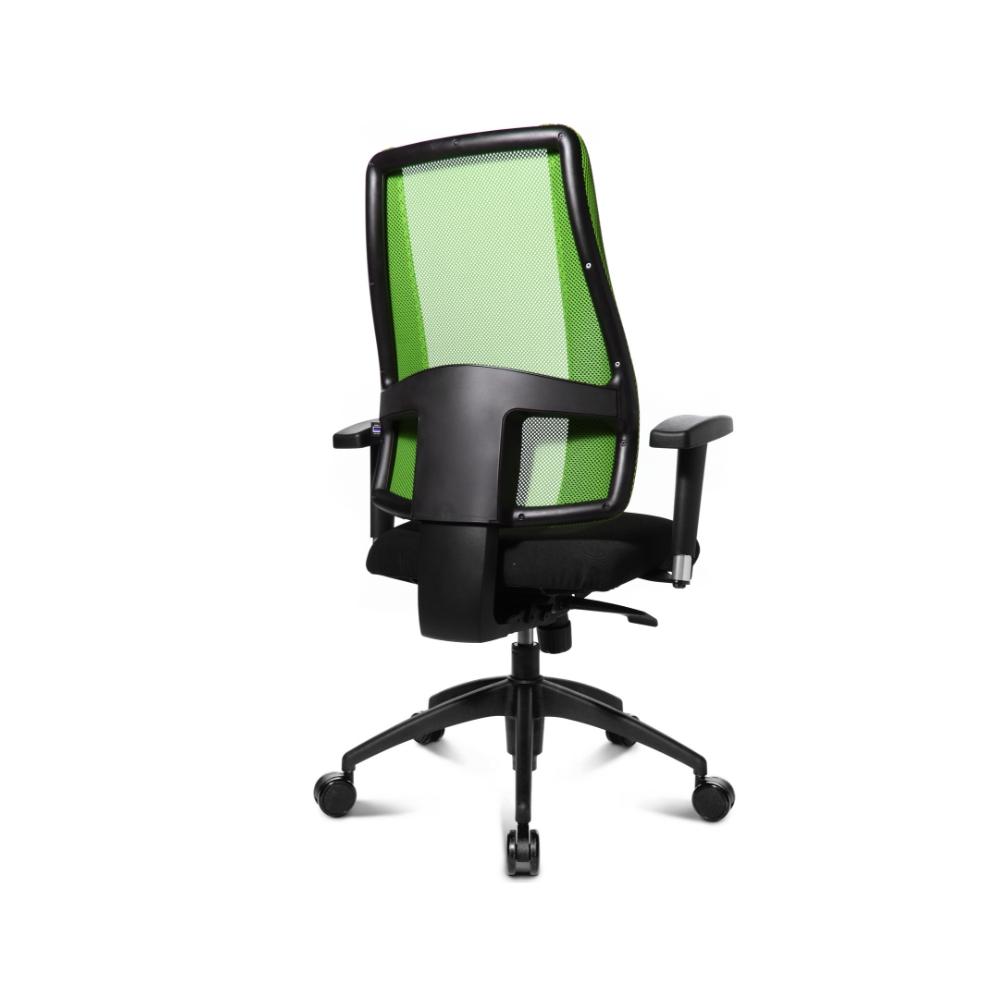 Damen Bürostuhl Topstar Lady Sitness Deluxe grün mit Kunststoff-Fußkreuz
