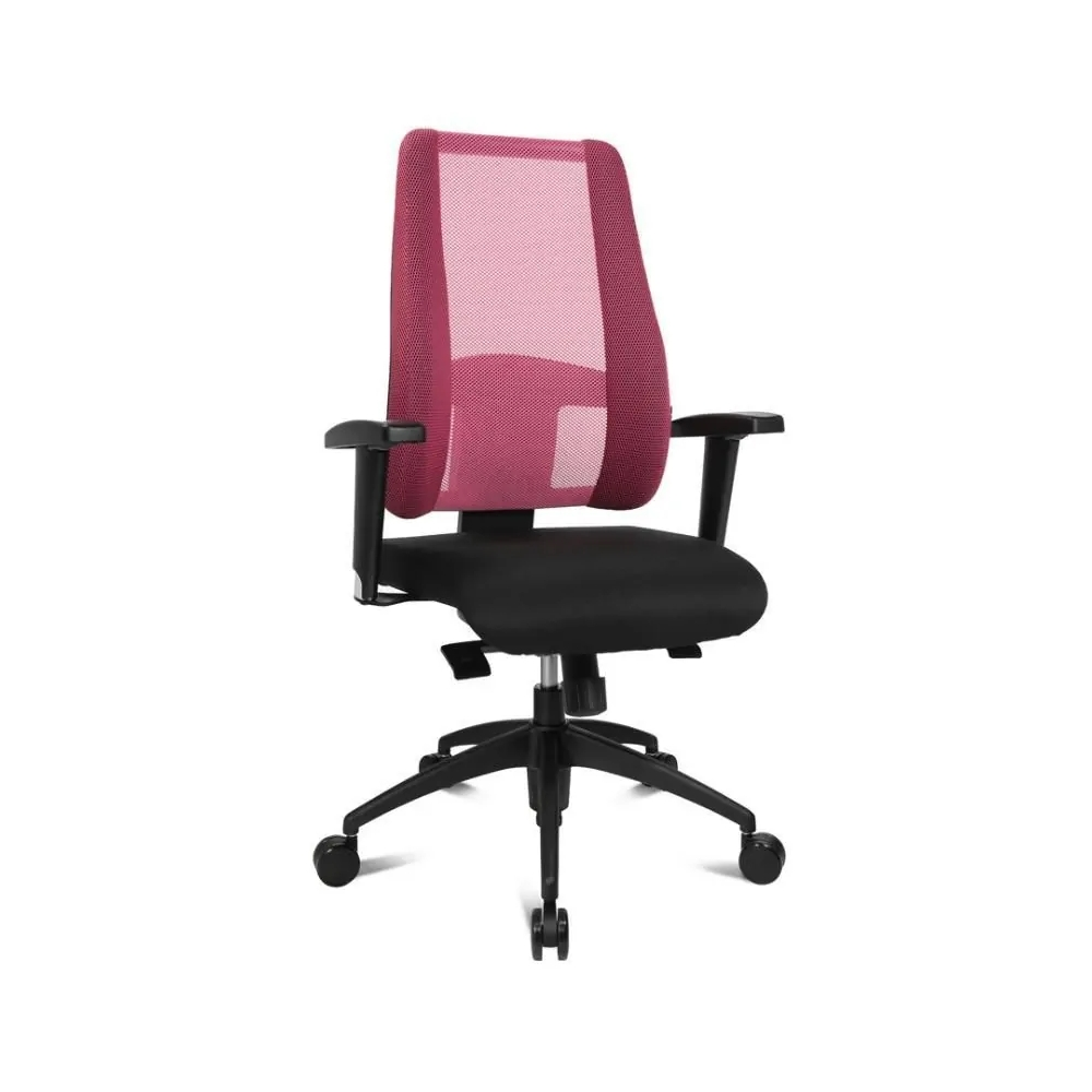 Damen Bürostuhl Topstar Lady Sitness Deluxe pink mit Kunststoff-Fußkreuz