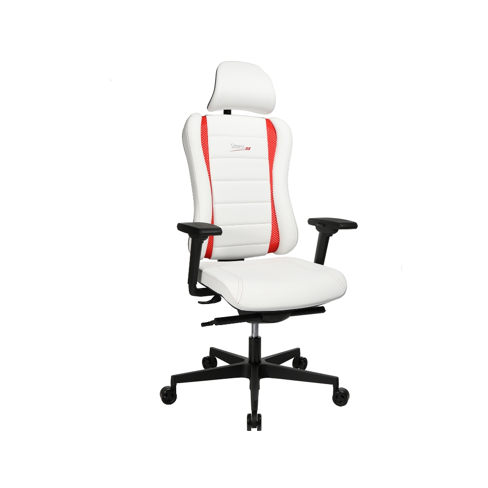 Gaming Stuhl Topstar Sitness RS Pro weiss-rot TW Armlehne