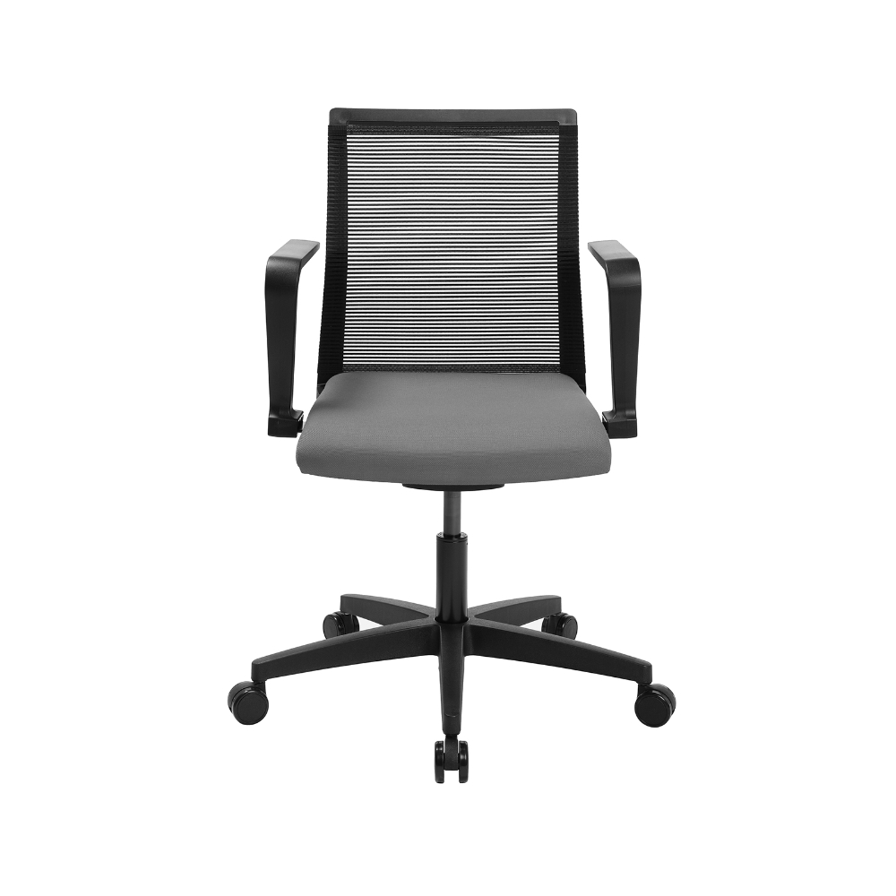 Home-Office Stuhl Sitness Smart Point hellgrau mit fester Armlehne