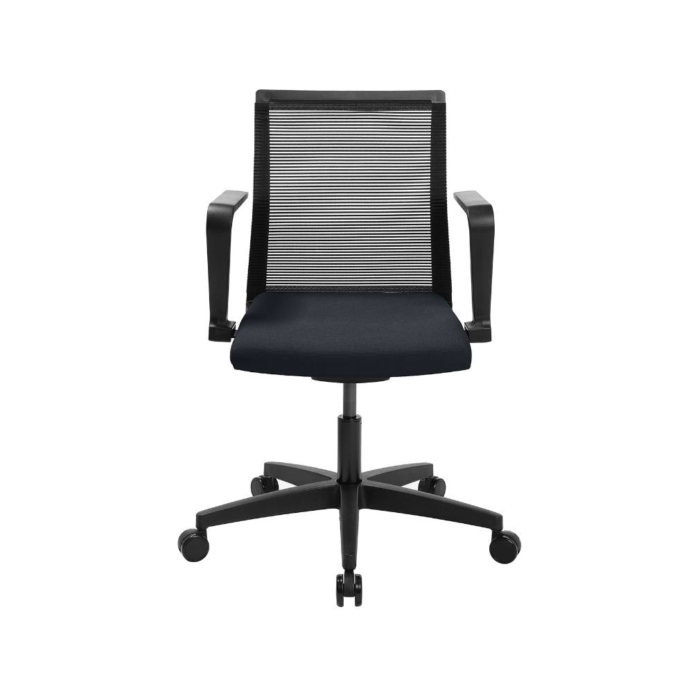Home-Office Stuhl Sitness Smart Point dunkelblau mit fester Armlehne