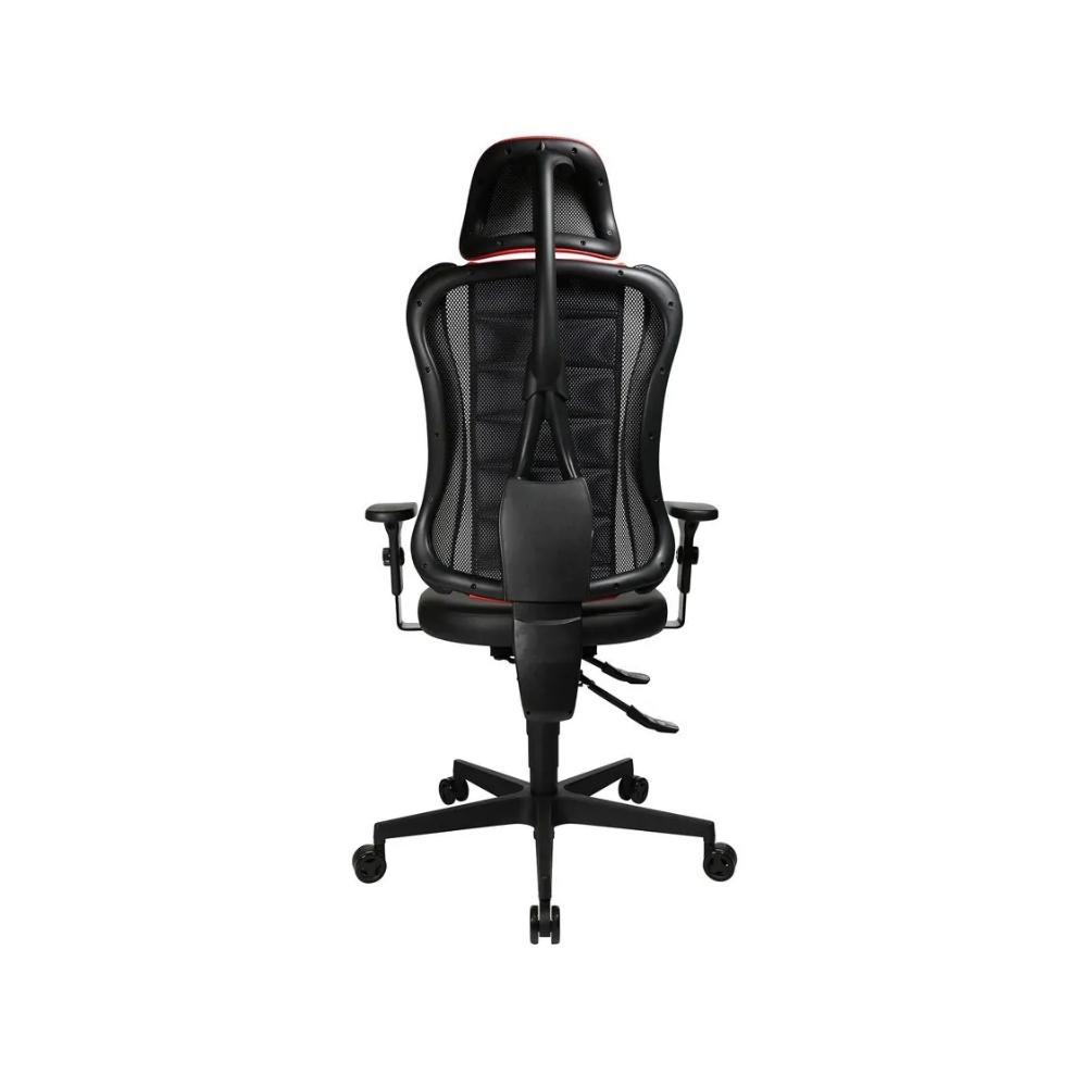 Gaming Stuhl Topstar Sitness RS rot mit höhenverstellbarer Armlehne/ mit Kopfstütze