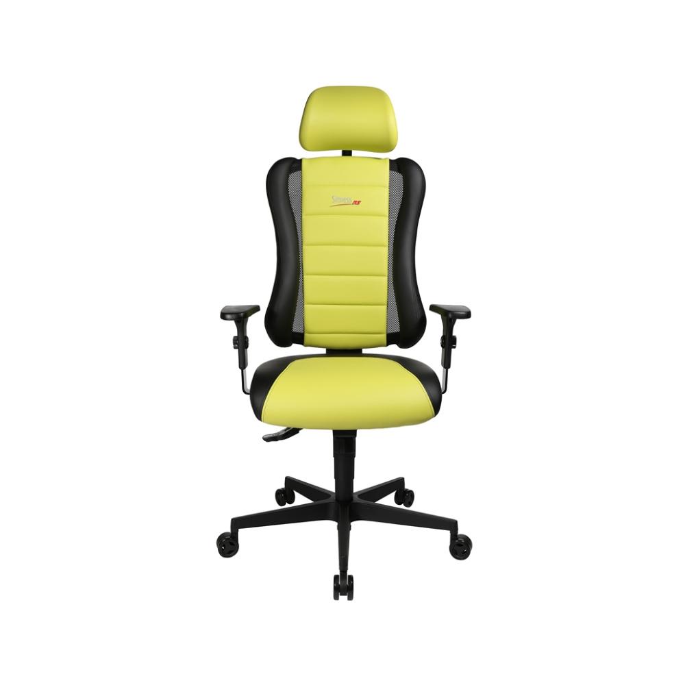 Gaming Stuhl Topstar Sitness RS hellgrün mit höhenverstellbarer Armlehne/ mit Kopfstütze