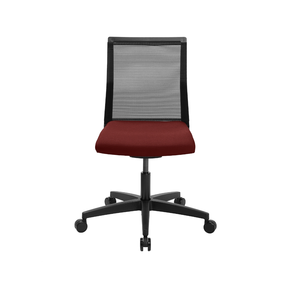 Home-Office Stuhl Sitness Smart Point bordeaux ohne Armlehne