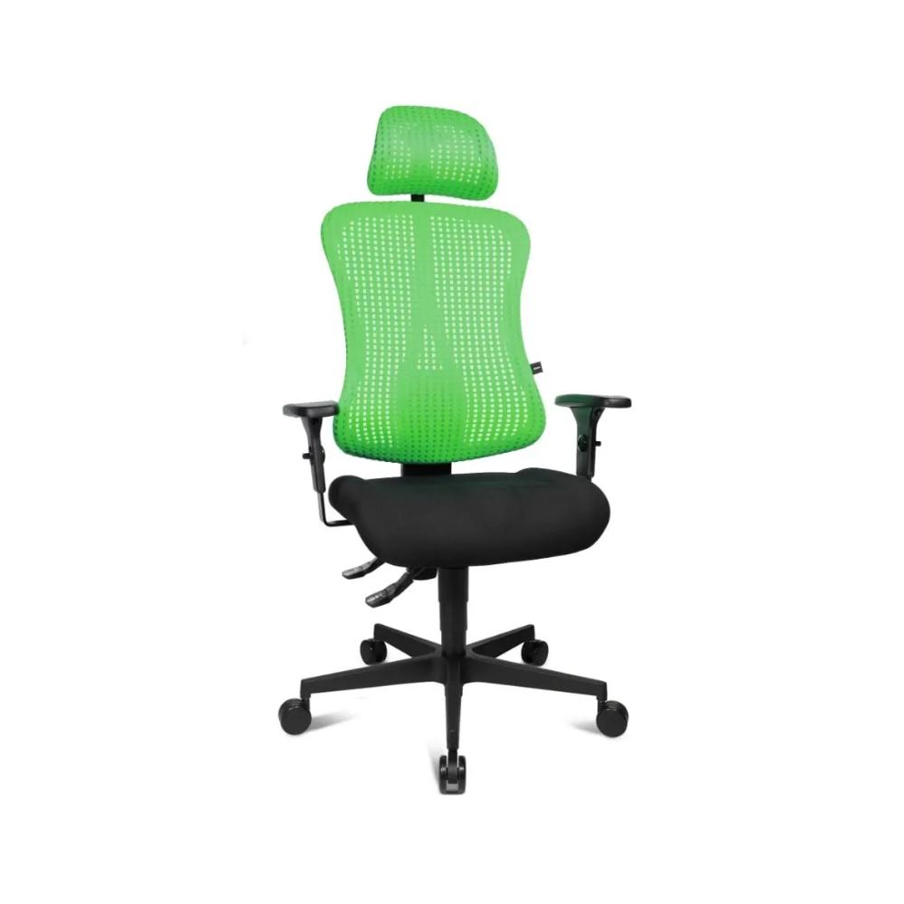Bürostuhl Topstar Sitness 90 mit Kopfstütze grün