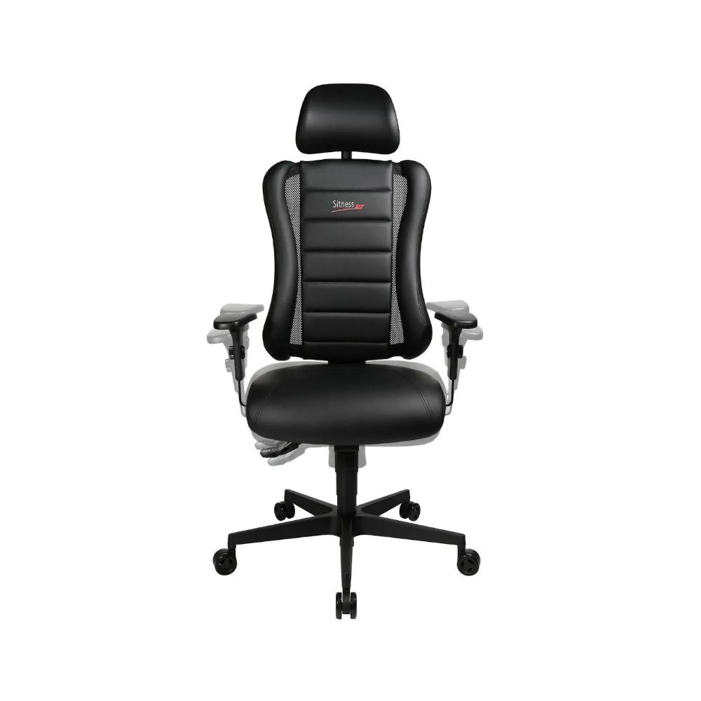 Gaming Stuhl Topstar Sitness RS schwarz mit höhenverstellbarer Armlehne/ mit Kopfstütze